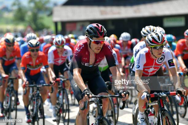 Luke Rowe of United Kingdom and Team INEOS / during the 83rd Tour of Switzerland Stage 5 a 177km stage from Münchenstein to Einsiedeln 904m / TDS /...