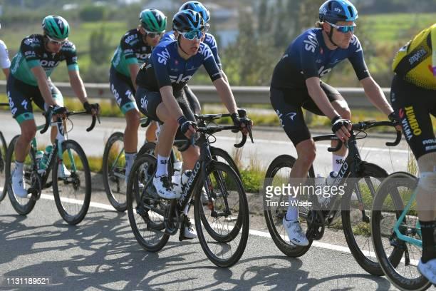 Luke Rowe of United Kingdom and Team Sky / David De La Cruz Melgarejo of Spain and Team Sky / during the 45th Volta ao Algarve Stage 2 a 1874 km...