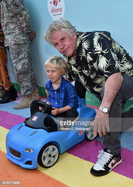 Luke Sampson Busey and actor Gary Busey attend the Step2 Favoredby Present The 5th Annual Red Carpet Safety Awareness Event at Sony Pictures Studios...