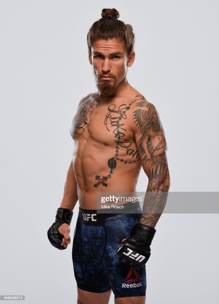 Luke Sanders poses for a portrait during a UFC photo session on September 13, 2017 in Pittsburgh, Pennsylvania.