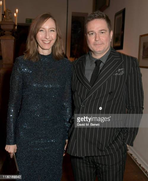 Luke Scott with guest attend the FrancoisHenri Pinault and Sarah Burton dinner In celebration of the Alexander McQueen Old Bond Street Flagship Store...