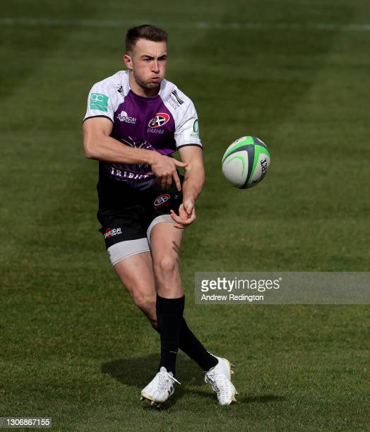 Luke Scully of Cornish Pirates takes on the Richmond defence during the Greene King IPA Championship match Richmond v Cornish Pirates on March 13,...