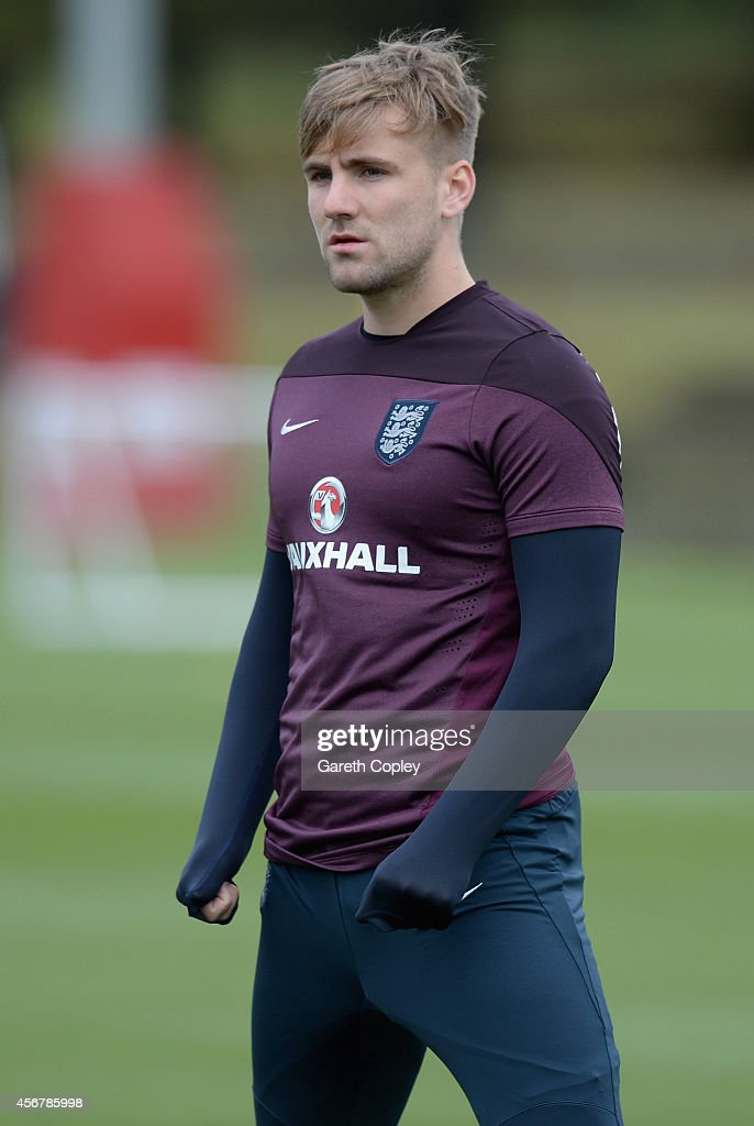 England U21 Training Session And Press Conference : News Photo