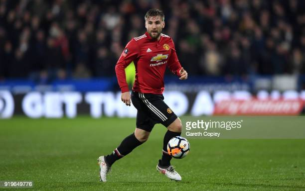Luke Shaw of Manchester United during the The Emirates FA Cup Fifth Round match between Huddersfield Town and Manchester United on February 17 2018...