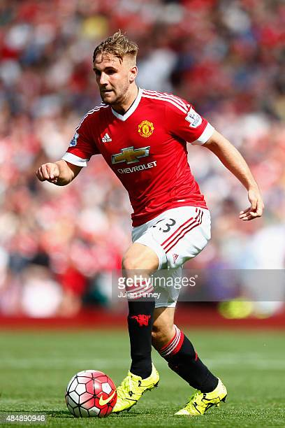 Luke Shaw of Manchester United in action during the Barclays Premier League match between Manchester United and Newcastle United at Old Trafford on...