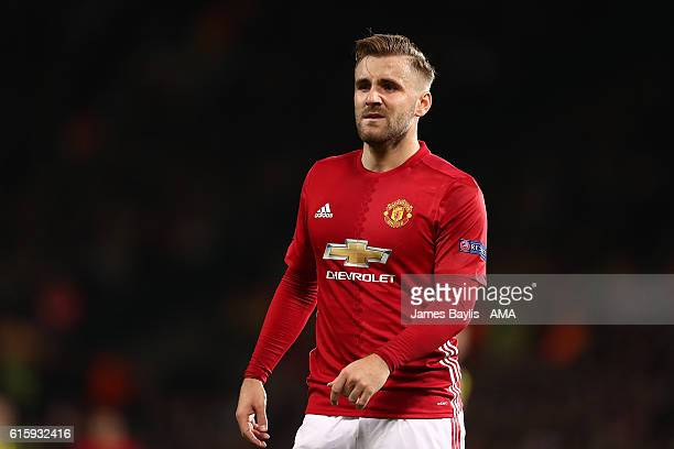 Luke Shaw of Manchester United in action during the UEFA Europa League match between Manchester United FC and Fenerbahce SK at Old Trafford on...