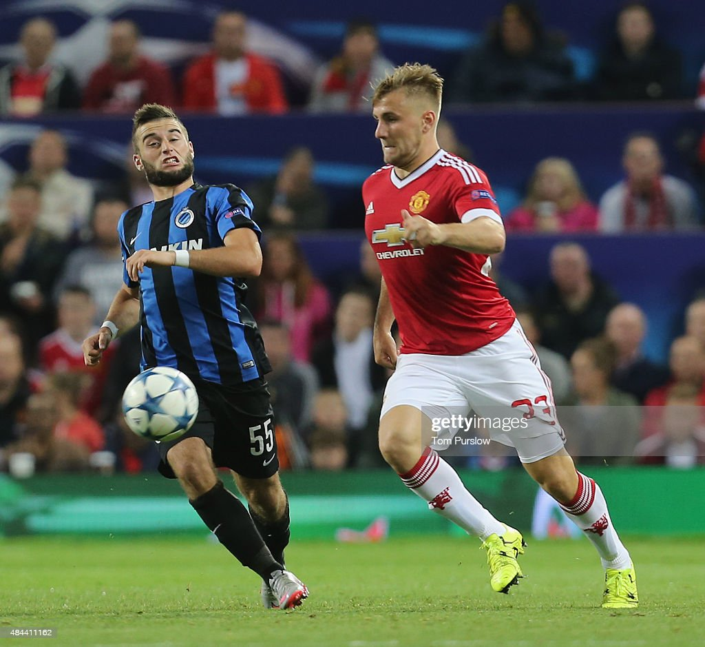 Manchester United v Club Brugge - UEFA Champions League: Qualifying Round Play Off First Leg : ニュース写真