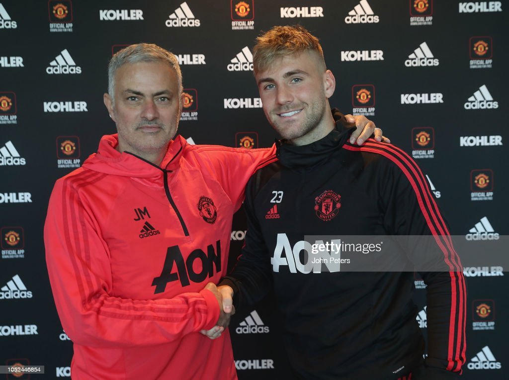 Luke Shaw Signs a New Contract at Manchester United : News Photo
