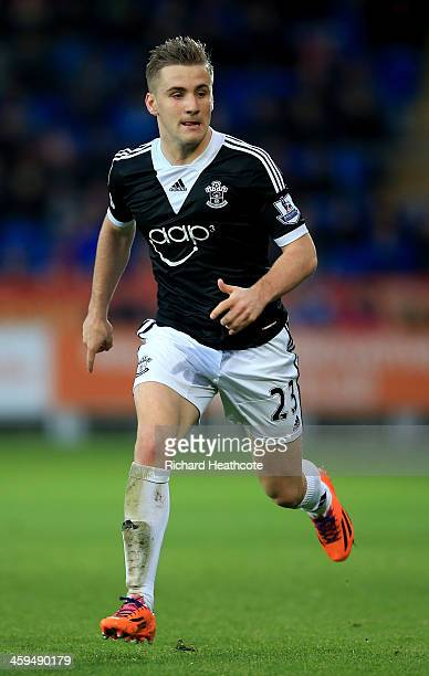 Luke Shaw of Southampton in action during the Barclays Premier League match between Cardiff City and Southampton at the Cardiff City Stadium on...