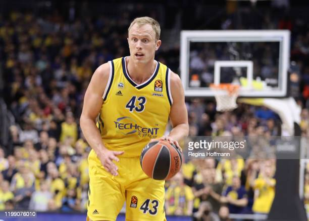 Luke Sikma, #43 of Alba Berlin in action during the 2019/2020 Turkish Airlines EuroLeague Regular Season Round 24 match between Alba Berlin and Real...