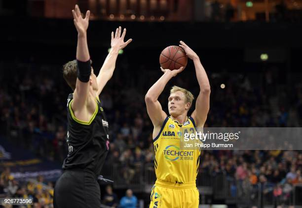 Luke Sikma of Alba Berlin during the easyCredit BBL game between Alba Berlin and medi Bayreuth at MercedesBenz Arena on march 3 2018 in Berlin Germany