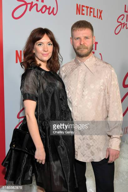 Luke Snellin and guest attend Netflix Let It Snow Los Angeles premiere on November 04 2019 in Los Angeles California