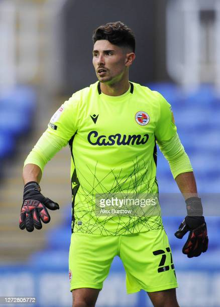 Luke Southwood of Reading FC looks on during the Carabao Cup Second Round match between Reading and Luton Town at Madejski Stadium on September 15...