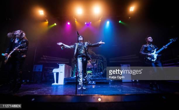 Luke Spiller Adam Slack Jed Elliott and Gethin Davies of The Struts perform at The O2 Institute Birmingham on February 24 2019 in Birmingham England