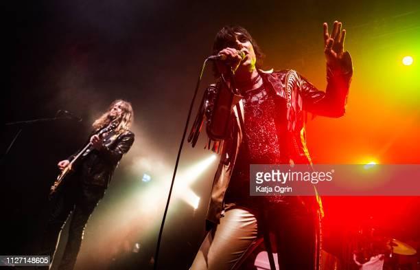 Luke Spiller and Adam Slack of The Struts perform at The O2 Institute Birmingham on February 24 2019 in Birmingham England