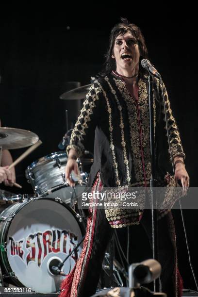 Luke Spiller of The Struts opens the concert of English rock band The Rolling Stones during Lucca Summer Festival 2017 on September 23 2017 in Lucca...