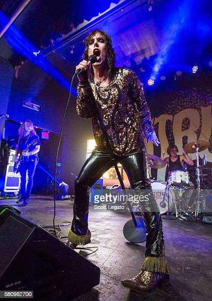 Luke Spiller of The Struts performs at St Andrews Hall on July 25 2016 in Detroit Michigan