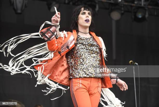 Luke Spiller of The Struts performs during the 2018 BottleRock Napa Valley at Napa Valley Expo on May 25 2018 in Napa California