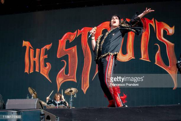 Luke Spiller of The Struts performs during the Firenze Rocks Festival 2019 at Visarno Arena on June 15 2019 in Florence Italy