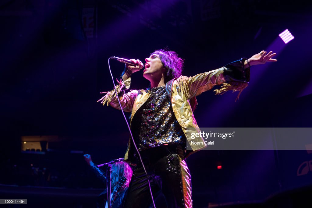 Luke Spiller Of The Struts Performs In Concert At Madison Square Garden On  July 16,