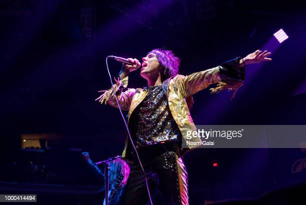 Luke Spiller of The Struts performs in concert at Madison Square Garden on July 16 2018 in New York City