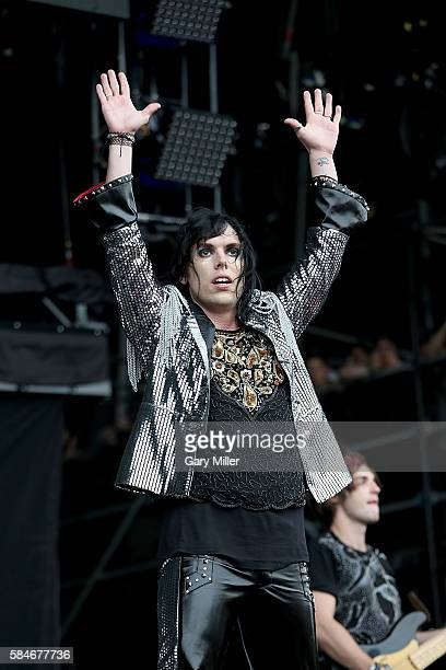 Luke Spiller of The Struts performs in concert on Day 2 of the 25th anniversary Lollapalooza at Grant Park on July 29 2016 in Chicago Illinois