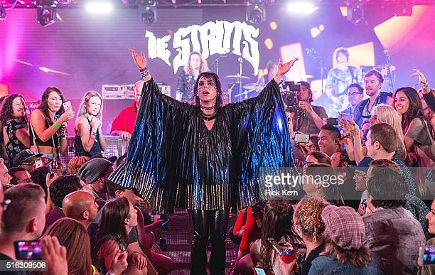 Luke Spiller of The Struts takes the stage at the Bud Light Factory during the Interscope Showcase on March 17 2016 in Austin Texas Bud Light...