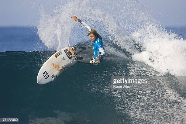 Luke Stedman of Avalon NSW Australia beat Mick Campbell in Round 3 of the Billabong Pro and has advanced to Round 4 where he will face 8 times ASP...