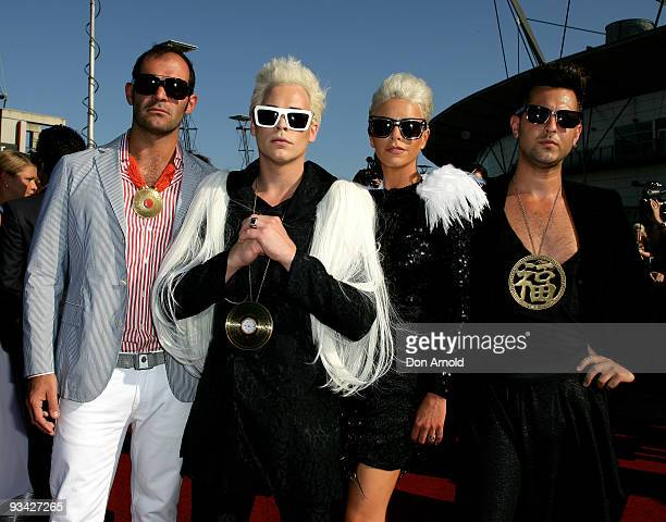 Luke Steele and Empire of the Sun arrive on the red carpet at the 2009 ARIA Awards at Acer Arena, Sydney Olympic Park on November 26, 2009 in Sydney,...