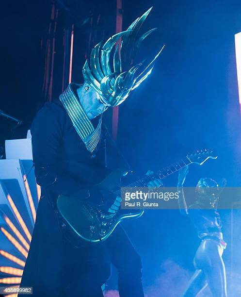 Luke Steele of Empire of the Sun performs onstage at the 7th Annual Sunset Strip Music Festival on September 21 2014 in West Hollywood California