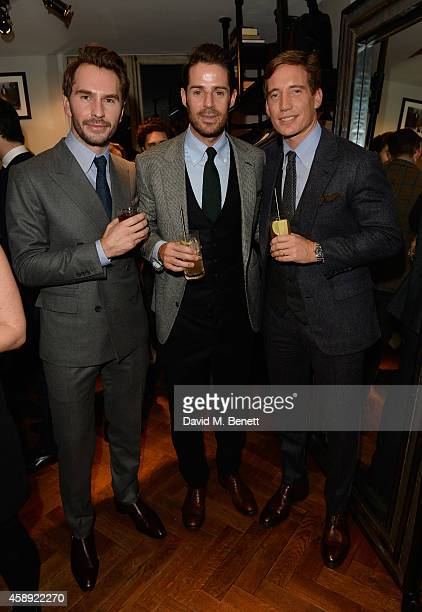 Luke Sweeney, Jamie Redknapp and Thom Whiddett attend the opening of the new Thom Sweeney RTW & MTM Store on November 13, 2014 in London, England.