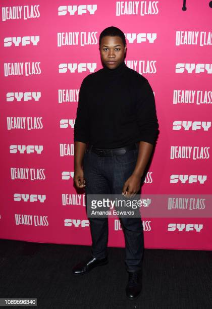 """Luke Tennie arrives at SYFY's new series """"Deadly Class"""" premiere screening at The Roxy Theatre on January 03, 2019 in West Hollywood, California."""