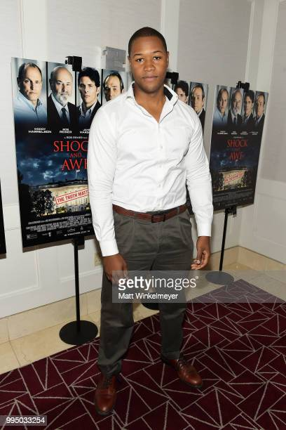 Luke Tennie attends the premiere of Vertical Entertainment's Shock and Awe at The London West Hollywood on July 9 2018 in West Hollywood California