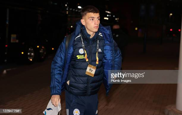 Luke Thomas of Leicester City arrives ahead of the UEFA Europa League Group G stage match between Leicester City and SC Braga at The King Power...