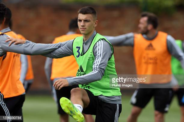 Luke Thomas of Leicester City during the Leicester City training session at Belvoir Drive Training Complex on July 10th, 2020 in Leicester, United...