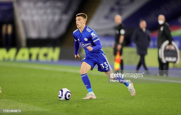 Luke Thomas of Leicester City during the Premier League match between Leicester City and West Bromwich Albion at The King Power Stadium on April 22,...