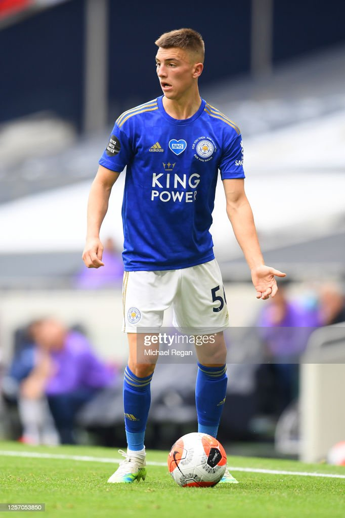 Luke Thomas of Leicester City in action during the Premier League ...