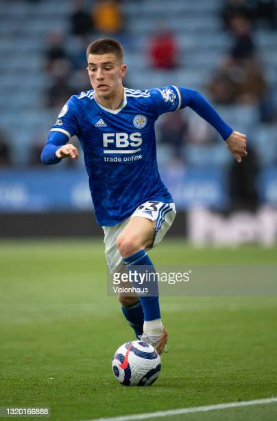 Luke Thomas of Leicester City in action during the Premier League match between Leicester City and Tottenham Hotspur at The King Power Stadium on May...
