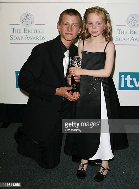 Luke Tittensor and Eden TaylorDraper during British Soap Awards 2006 Press Room at BBC Television Centre in London Great Britain