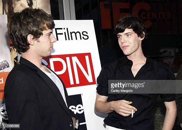 Luke Treadaway and Harry Treadaway during Brothers of the Head New York Premiere at IFC Theater in New York City New York United States