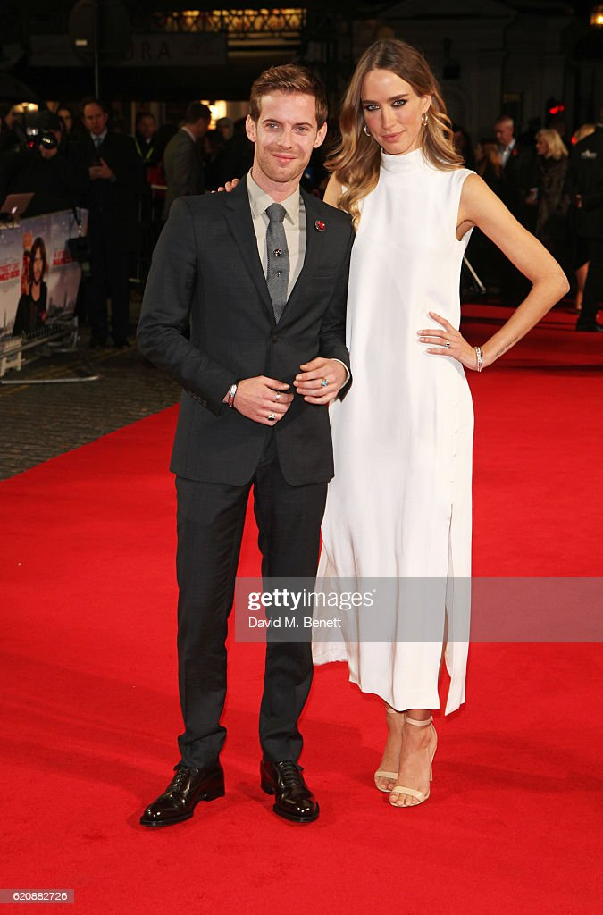 Luke Treadaway (L) and Ruta Gedmintas attend the UK Premiere of 'A Street Cat Named Bob' in aid of Action On Addiction at The Curzon Mayfair on November 3, 2016 in London, United Kingdom.