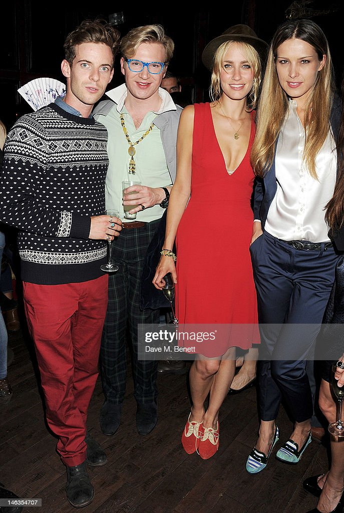 Luke Treadaway, Henry Conway, Ruta Gedmintas and Petra Nemcova attend as Tommy Hilfiger hosts a cocktail party to celebrate the launch of London Collections: Men at The Scotch of St. James London on June 14, 2012 in London, England.