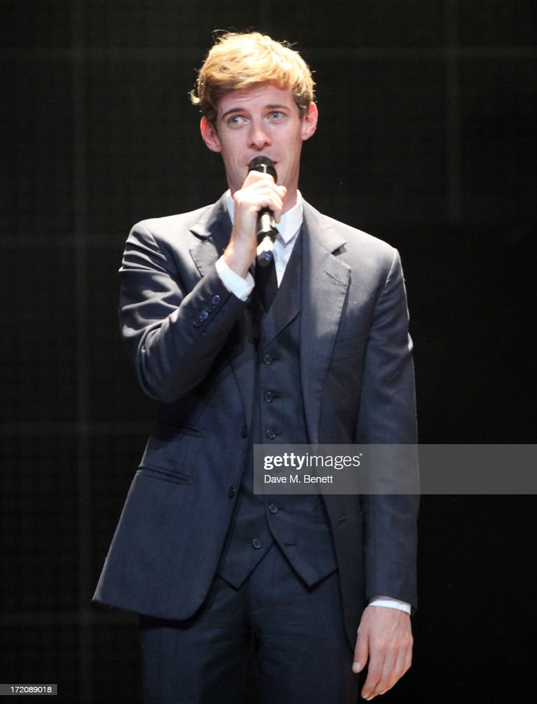 Luke Treadaway speaks on stage at 'A Curious Night at the Theatre', a charity gala evening to raise funds for Ambitious about Autism and The National Autistic Society, at The Apollo Theatre on July 1, 2013 in London, England.