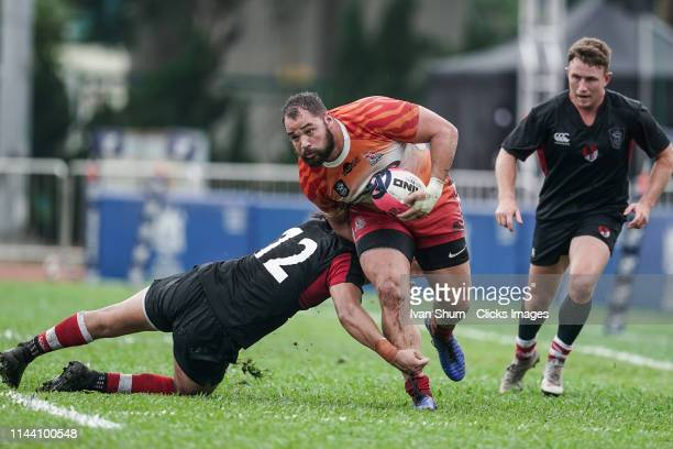 Luke Van Der Smit of South China Tigers in action during the Global Rapid Rugby match between the South China Tigers and Asia Pacific Dragons at...