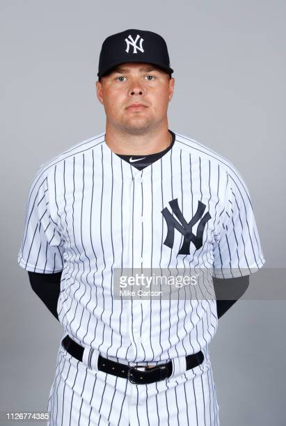 Luke Voit of the New York Yankees poses during Photo Day on Thursday, February 21, 2019 at George M. Steinbrenner Field in Tampa, Florida.