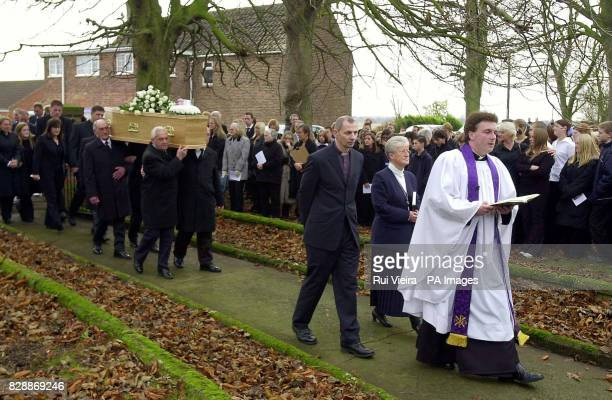 Luke Walmsley funeral cortege arrives at St Mary's Church in North Somercotes Luke was fatally stabbed at his school on November 4th