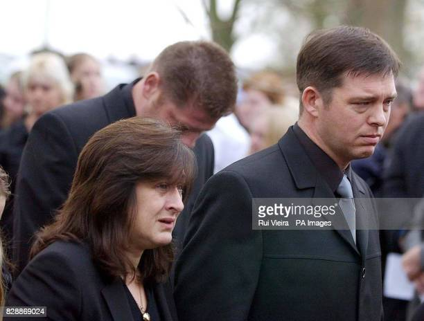 Luke Walmsley parents Jayne and Paul arrive at St Mary's Church for their son's funeral in North Somercotes Friday November 21 2003 Luke was fatally...