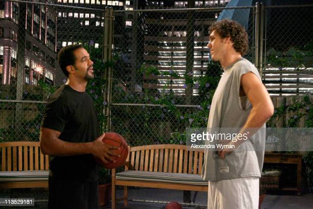 Luke Walton and Kristoff St John during Los Angeles Laker Luke Walton Makes His Daytime Debut on CBS' 'The Young and the Restless' Set to Air August...