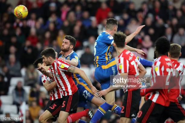 Luke Waterfall of Shrewsbury Town scores a goal to make it 0-1 during the Sky Bet League One match between Sunderland and Shrewsbury Town at Stadium...