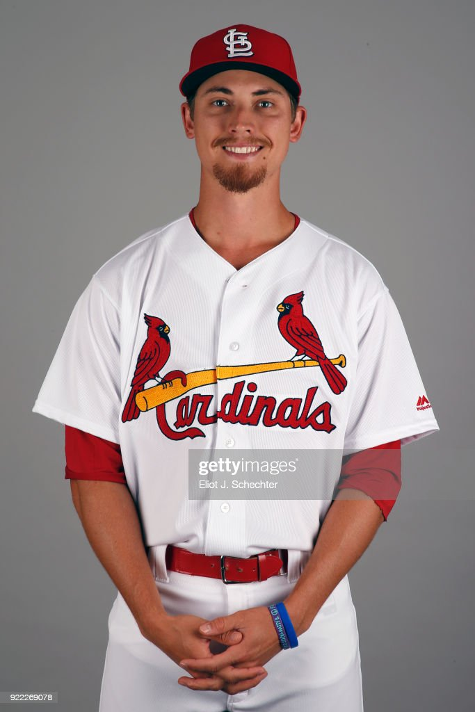 Luke Weaver #7 of the St. Louis Cardinals poses during Photo Day on Tuesday, February 20, 2018 at Roger Dean Stadium in Jupiter, Florida.